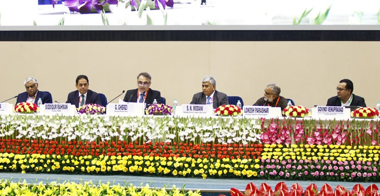 S.K. Gupta, Md. Siddiqur Rahman, G. Gherzi, S. N. Modani, Lokesh Parashar, and Govind Venuprasad during a session